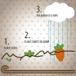 Royalty-Free Stock Vector Image: Kids Vegetables infographic