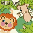 iconos de animales — Vector de stock