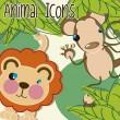 動物のアイコン — ストックベクタ