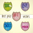 Royalty-Free Stock Vector Image: Color sale label set