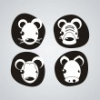 Royalty-Free Stock Imagem Vetorial: Animal Icons