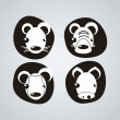 Royalty-Free Stock Imagen vectorial: Animal Icons