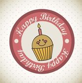 Birthday seal — Vector de stock