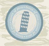 Tower of pisa — Stock Vector