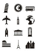 Europe icons — Stock Vector