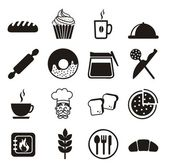 Bakery icons — Stockvektor