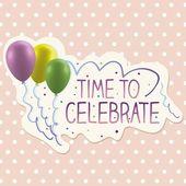 Verjaardag vieren — Stockvector