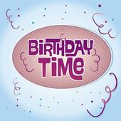 Birthday Time — Stock Vector