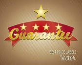 Best Price Labels Guarantee — Stock Vector