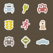 Taxi icons — Stockvectorbeeld