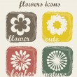 Stock Vector: Flowers icons