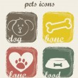 Pets icons — Stock Vector #15108881