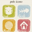 Pets icons — Stockvector  #15108893