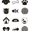 Stock Vector: Pets icons