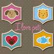 Pets icons — Stock Vector #15109803