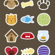 Pets icons - Vettoriali Stock 
