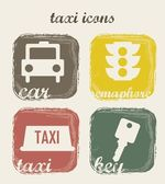 Taxi icons — Stock Vector