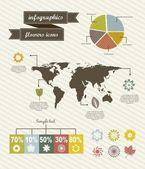 Infographics flower — Stock Vector