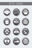 Pets icons — Stock Vector