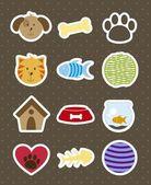 Domácí zvířata ikony — Stock vektor