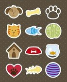 Pets icons — Vector de stock
