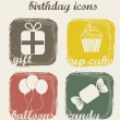 Birthday icons — Stock Vector #15393747