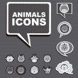Animals icons — Stockvectorbeeld