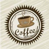 Coffee label — Stock Vector