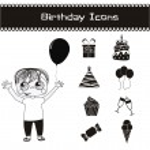 Birthday icons — Stock Vector #15588559