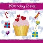 Birthday icons — Stock Vector #15588813