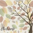 Autumn background — Imagen vectorial