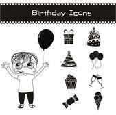 Birthday icons — Vector de stock