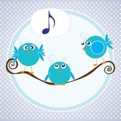 Birds icons — Stock Vector