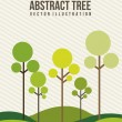Stock Vector: Abstract tree