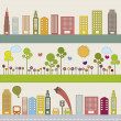 Royalty-Free Stock Vector Image: City and nature
