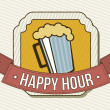 Stock Vector: Happy hour