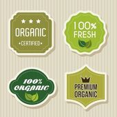 Green labels — Stock Vector