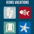Icons vacations — Stock Vector