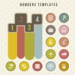 Numbers templates — Stock Vector #15793481