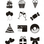 Birthday icons — Stock Vector #15793765