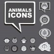 Animals icons — Stock vektor