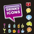 Drinks icons — Stock Vector #15793859