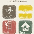 Stock Vector: Accident icons