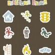 Royalty-Free Stock Vector Image: Accident icons