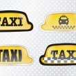 iconos de taxi — Vector de stock