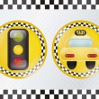 Stock Vector: Taxi Icons