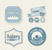 Bäckerei etiketten — Stockvektor