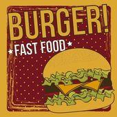 Burger vector — Stock Vector