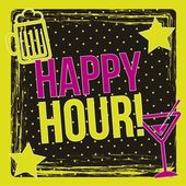 Happy hour — Stok Vektör