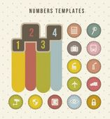 Numbers templates — Stock Vector